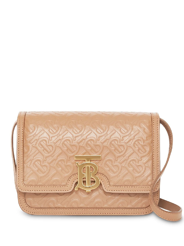 1bce6b68da Burberry Small Monogram Leather Tb Bag In Neutrals | ModeSens