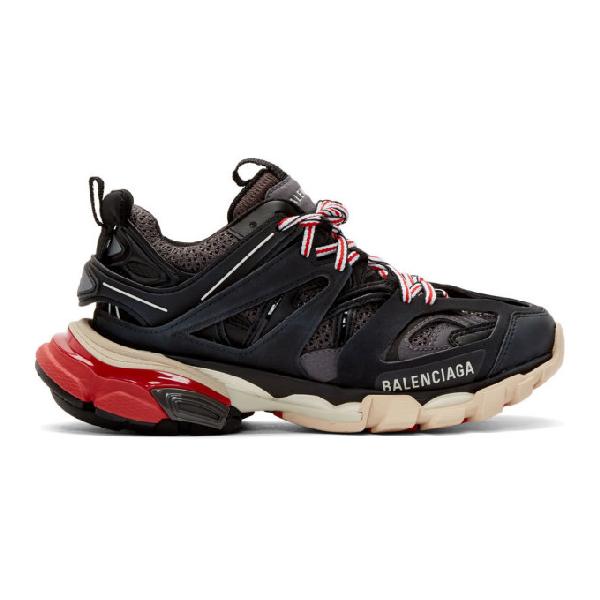 Balenciaga Track Colorblock Mixed Sneakers, Gris Noir, Grisnoir In 1002 Blk/Gr