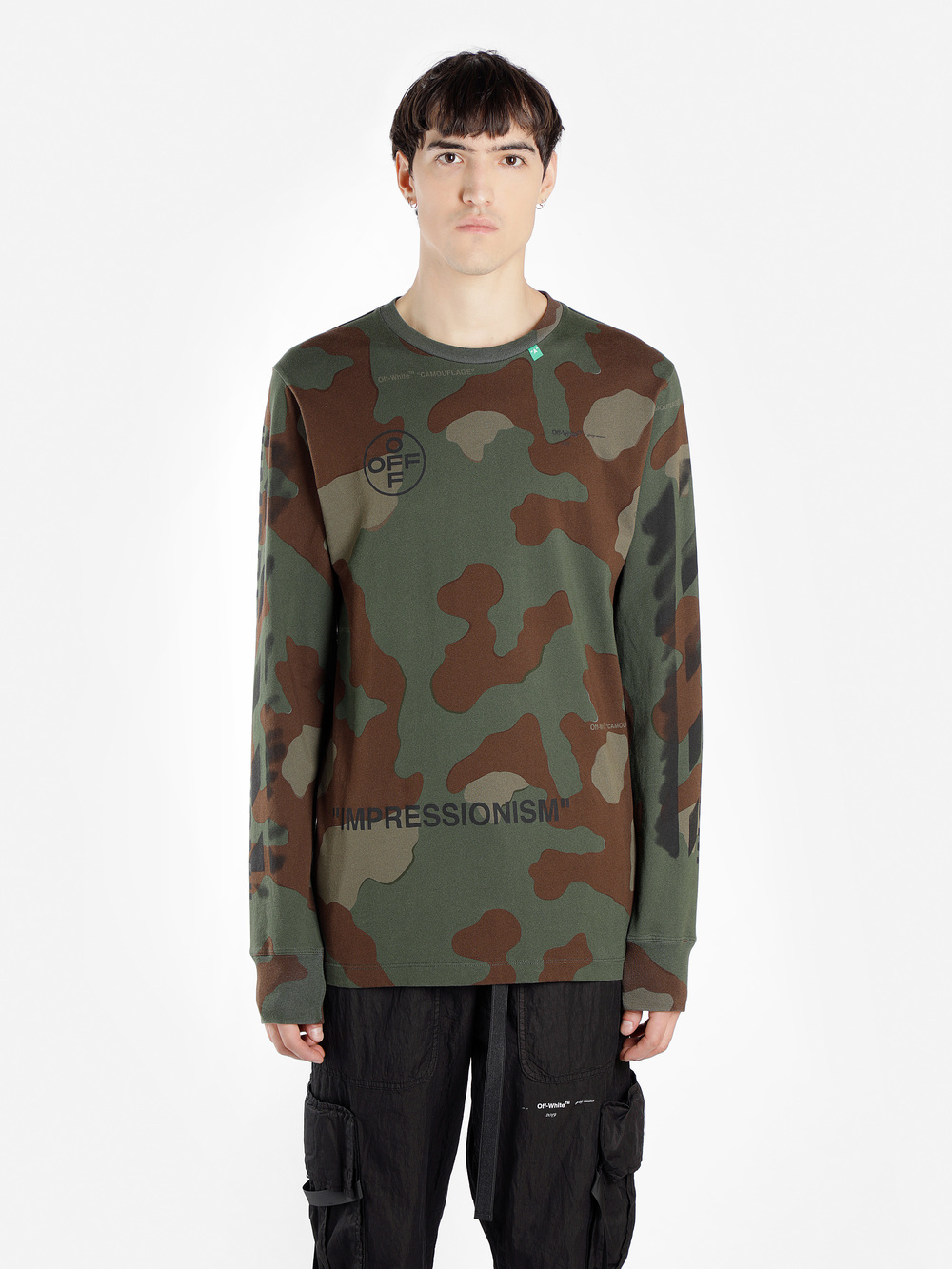 d40204bc3fa3 Off-White C/O Virgil Abloh T-Shirts In Green | ModeSens