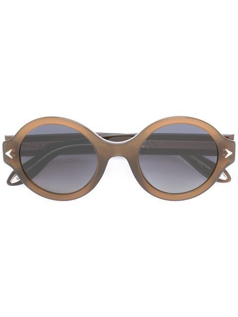 Givenchy Eyewear Round Frame Sunglasses - Brown