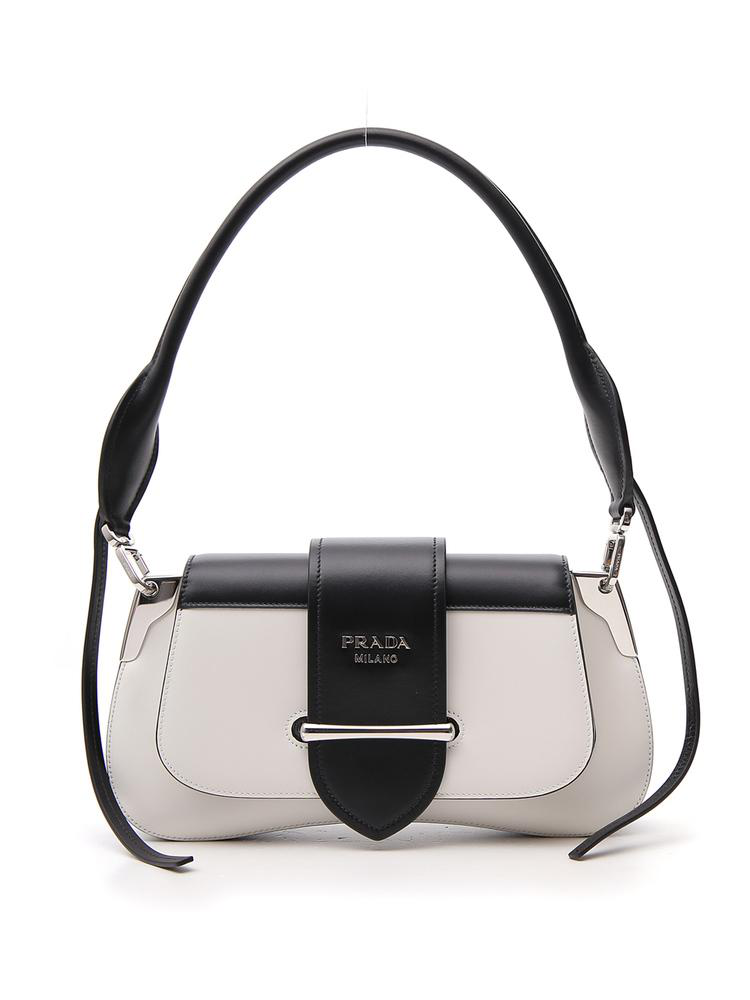 6ceb0799adac Prada Buckle Strap Shoulder Bag In White | ModeSens