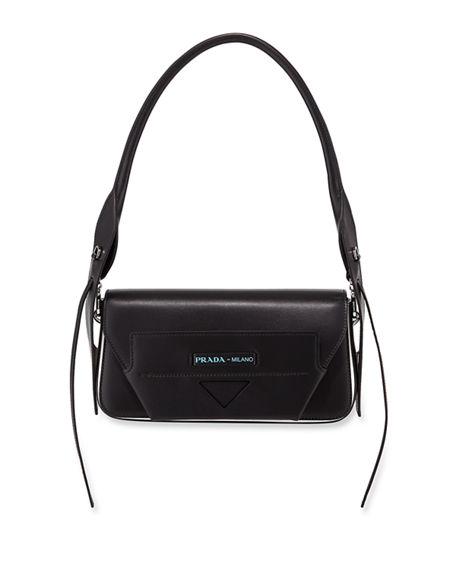 Prada Manuelle Shoulder Bag In Black