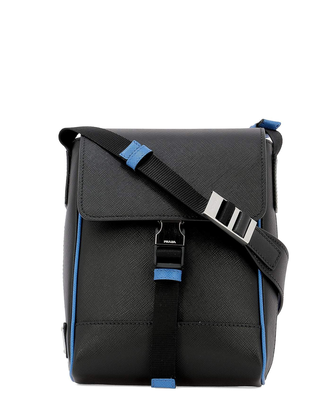 41fc5d1b0f Prada Saffiano Messenger Bag In Black