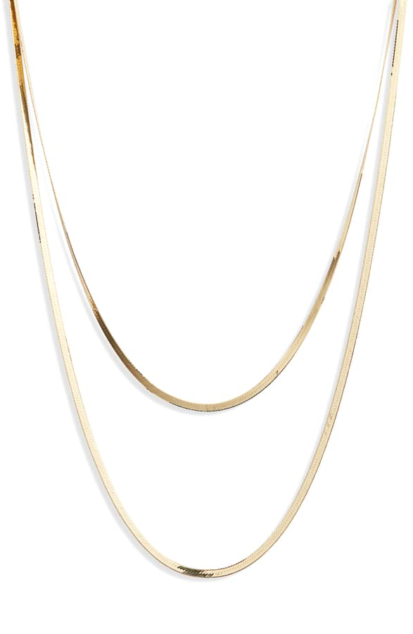Lana Liquid Gold Double Layered Necklace In Yellow Gold