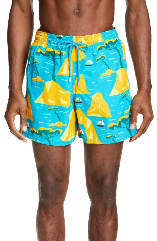 Vilebrequin Men's Moorea 9Th August Capri Swim Trunks In Seychelles