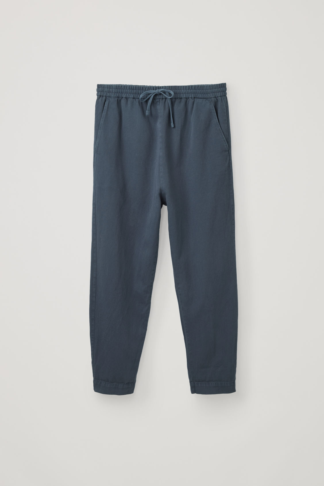 Cos Relaxed Cotton-linen Pants In Blue