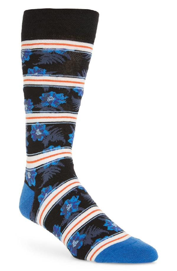 Ted Baker Alyssum Graphic Floral Socks In Blue