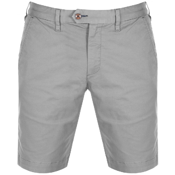 Ted Baker Selshor Slim Fit Chino Shorts In Grey