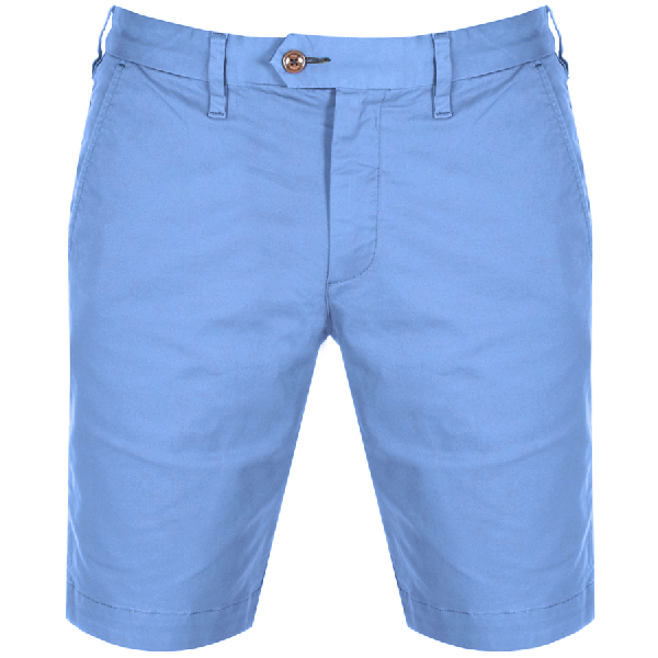 Ted Baker Selshor Slim Fit Chino Shorts In Blue