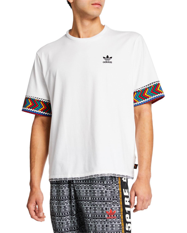 43881dea0b38a Adidas Originals Men s X Pharrell Williams Solarhu Trefoil T-Shirt In  Multicolor