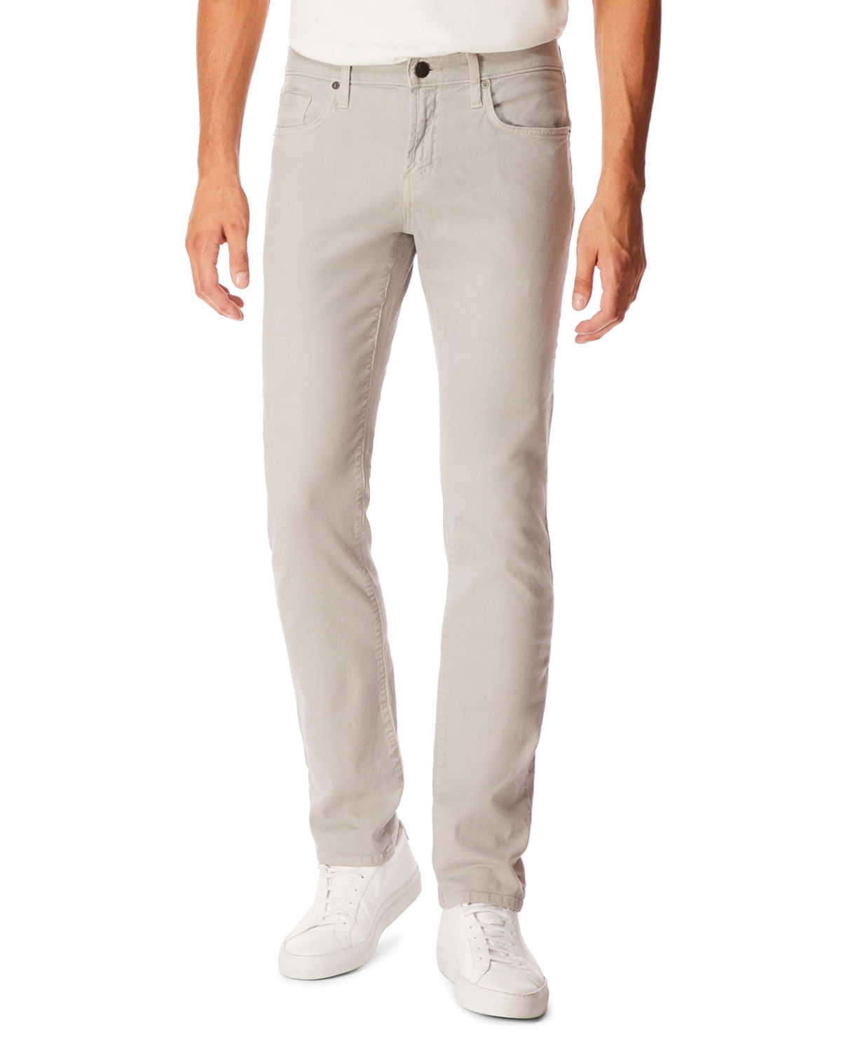 J Brand Men's Kane Straight-Leg Lightweight Cotton-Linen Pants In Gray