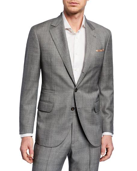 Brunello Cucinelli Men's Tonal Plaid Super 110S Wool Two-Piece Suit In Gray