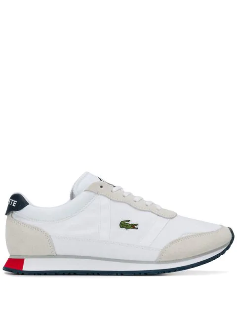 Lacoste Panelled Sneakers In White