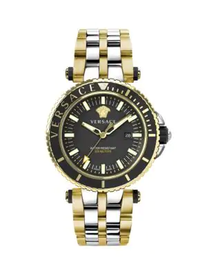 Versace V-Race Dive Two-Tone Stainless Steel Chronograph Bracelet Watch In Two Tone
