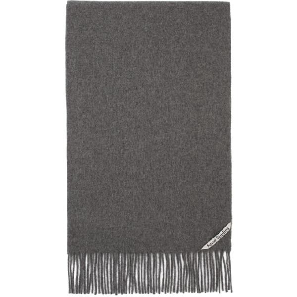 Acne Studios Canada Narrow New Scarf In Grey Melange Wool In Gray