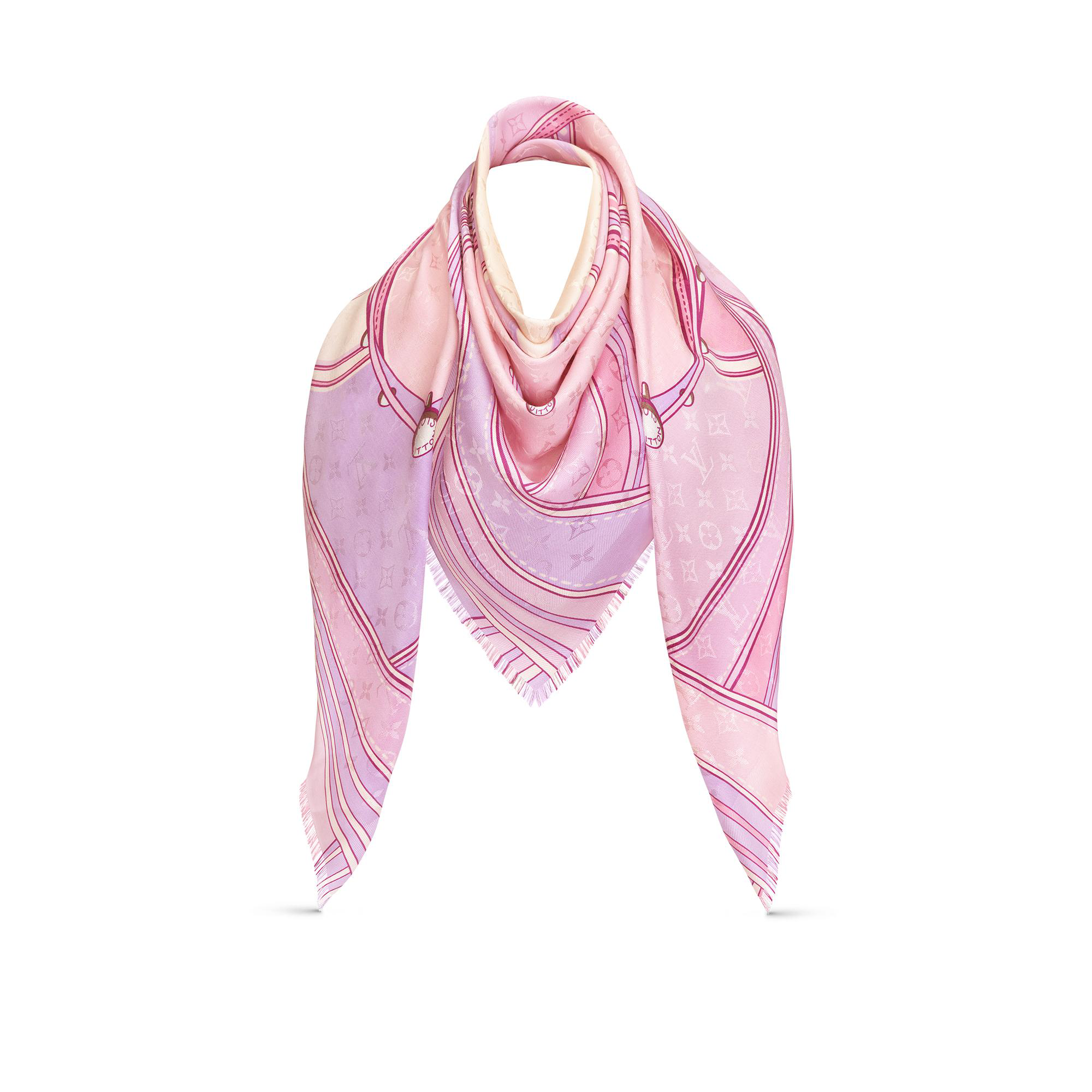 338922ec9c Hypnotic Monogram Shawl in Light Pink