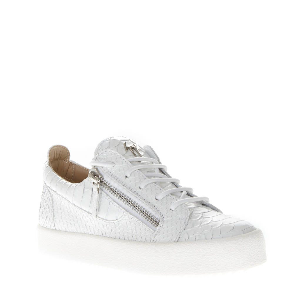 0c9557f16b344 Giuseppe Zanotti Sneakers In White Cracked Effect Leather | ModeSens