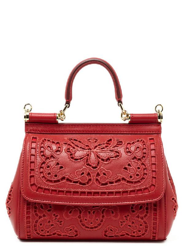 Dolce & Gabbana Sicily Bag In Red
