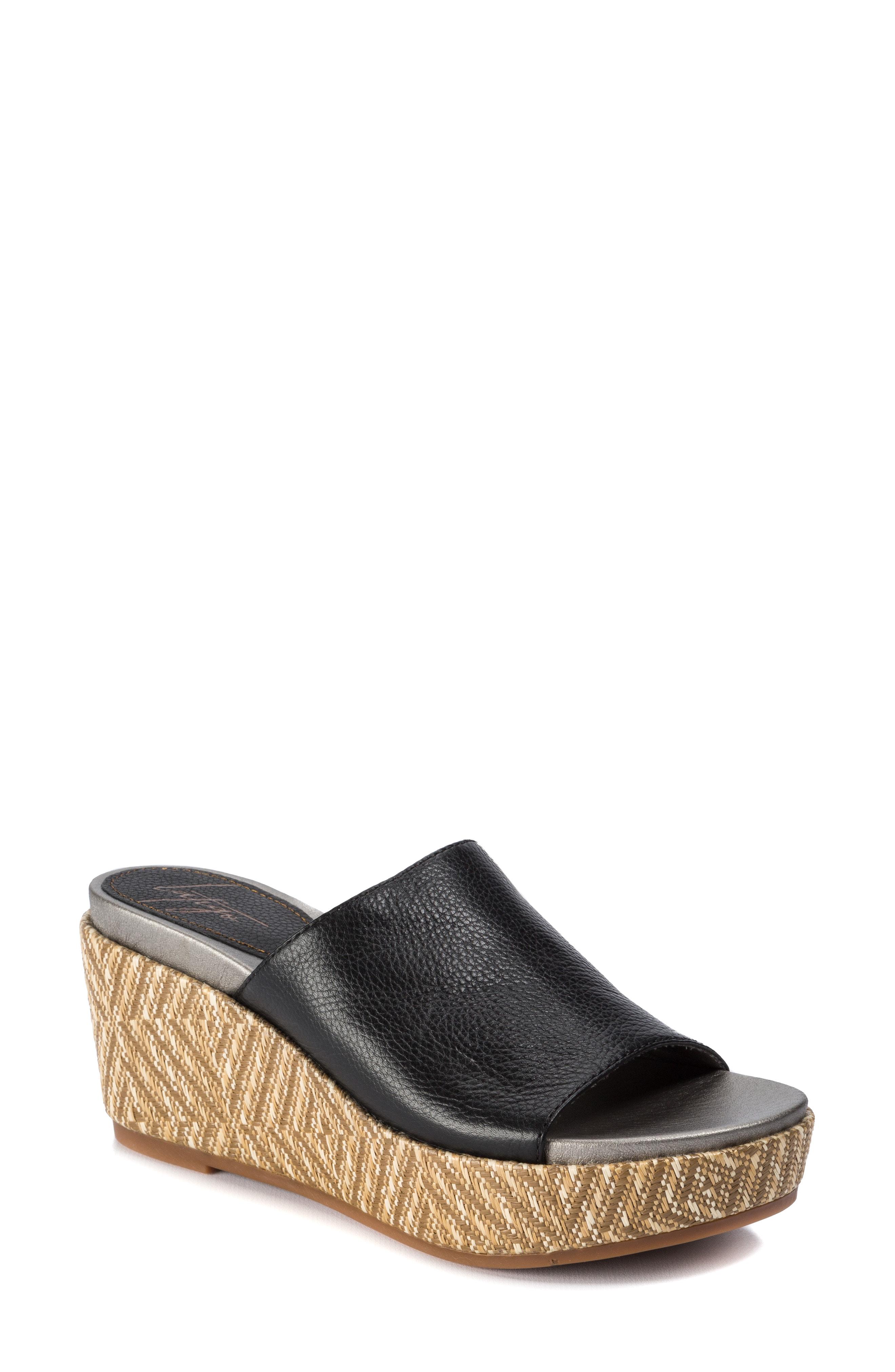 7c8bdc3d2f1 Latigo Letitia Wedge Slide Sandal In Black