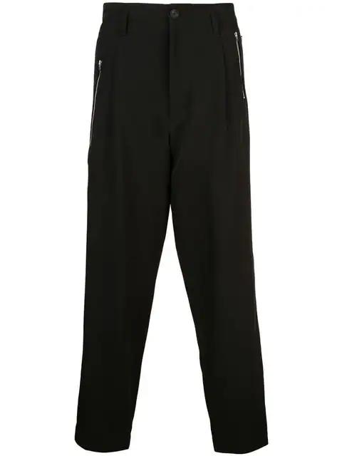 Yohji Yamamoto Black Zipper Pocket Trousers