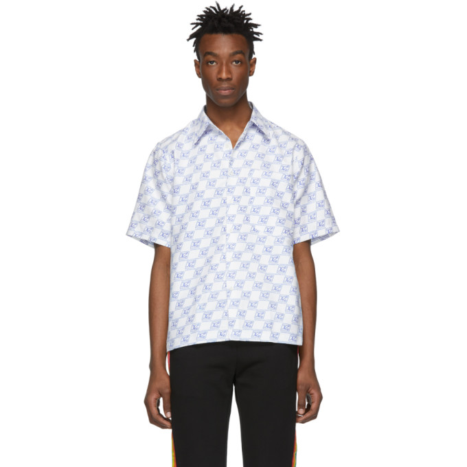 Xander Zhou White Monogram Shirt