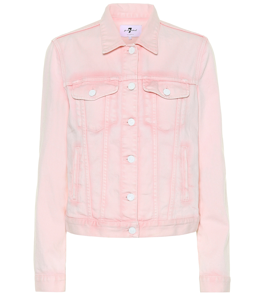 7 For All Mankind Denim Jacket In Pink