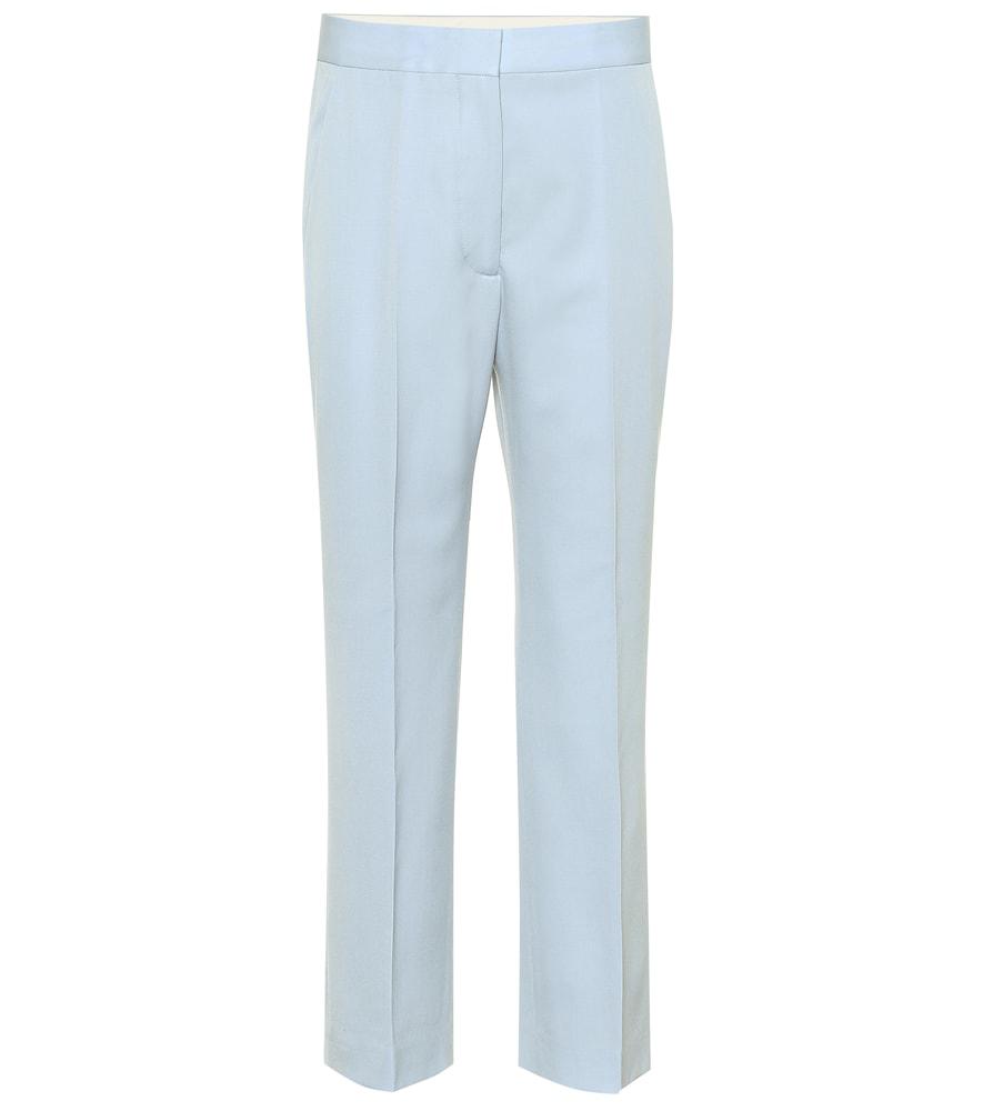 Stella Mccartney Dolce High-Rise Wide-Leg Pants In Blue