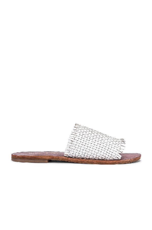 Splendid Women's Truth Woven Leather Slide Sandals In White