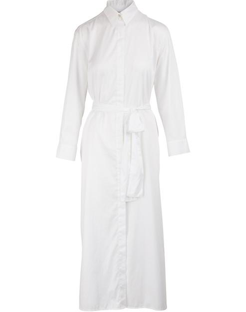 Forte Forte Long Shirt Dress In Bianco
