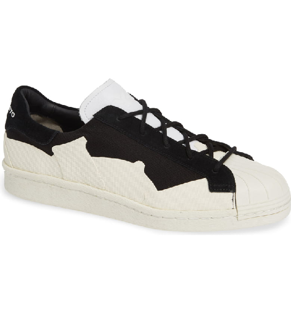 Y-3 Men's Super Takusan Low-Top Sneakers In Core Black/ Core Black/ White