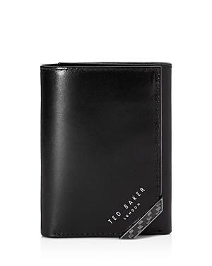 0a588eb7664 Ted Baker Triboo Carbon Fibre Leather Trifold Wallet In Black   ModeSens
