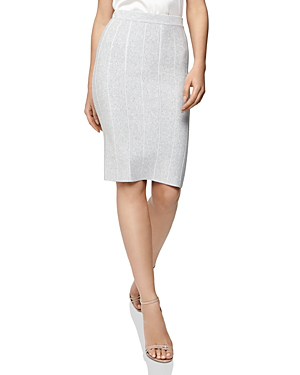 66ac27a58 Reiss Rachel Knit Pencil Skirt In Gray | ModeSens