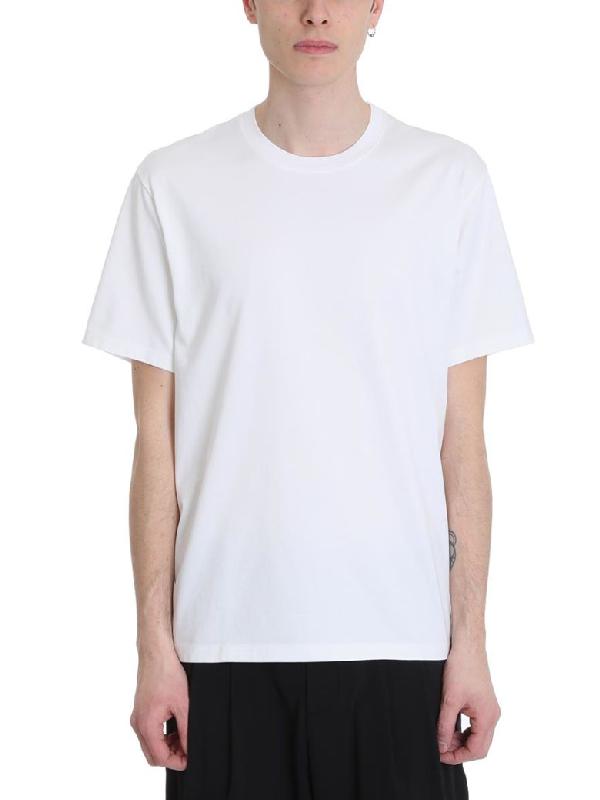 Attachment White Cotton T-Shirt