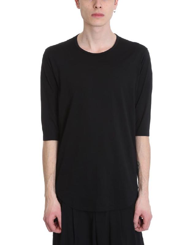Attachment Black Cotton T-Shirt