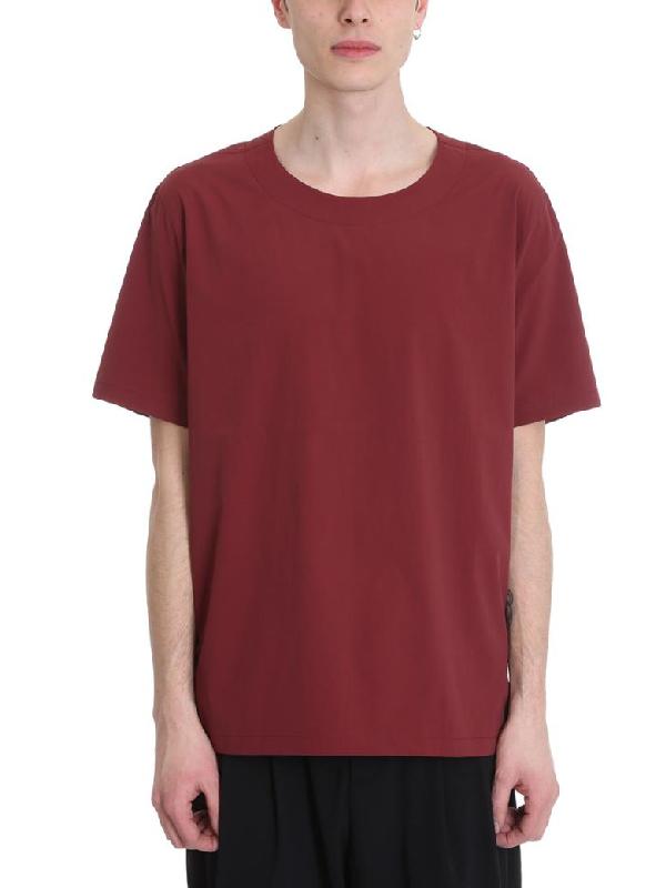 Attachment Bordeaux Cotton T-Shirt