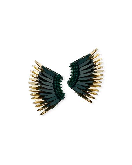 Mignonne Gavigan Mini Madeline Statement Earrings In Emerald