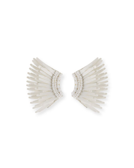 Mignonne Gavigan Mini Madeline Statement Earrings In White