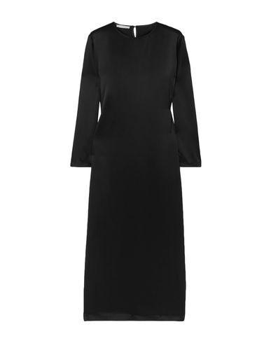 La Collection Jacqueline Silk-satin Midi Dress In Black
