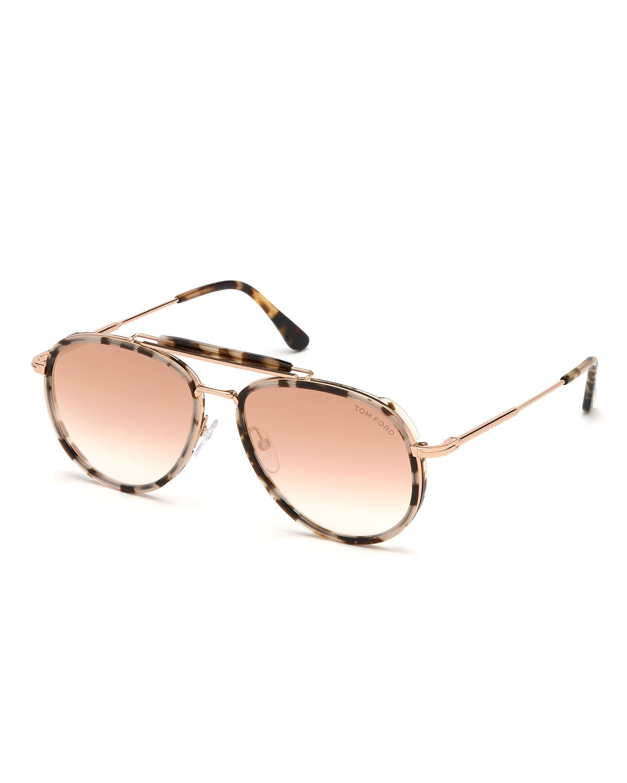 c673f923c Tom Ford Tripp Metal & Acetate Aviator Sunglasses In Pink | ModeSens
