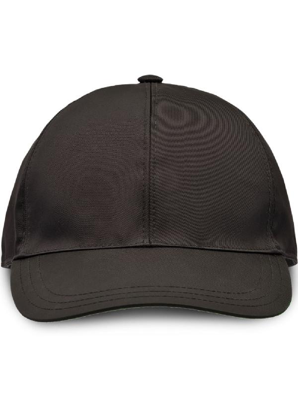d15aa58f Prada - Logo Appliqué Nylon Cap - Mens - Black Orange   ModeSens