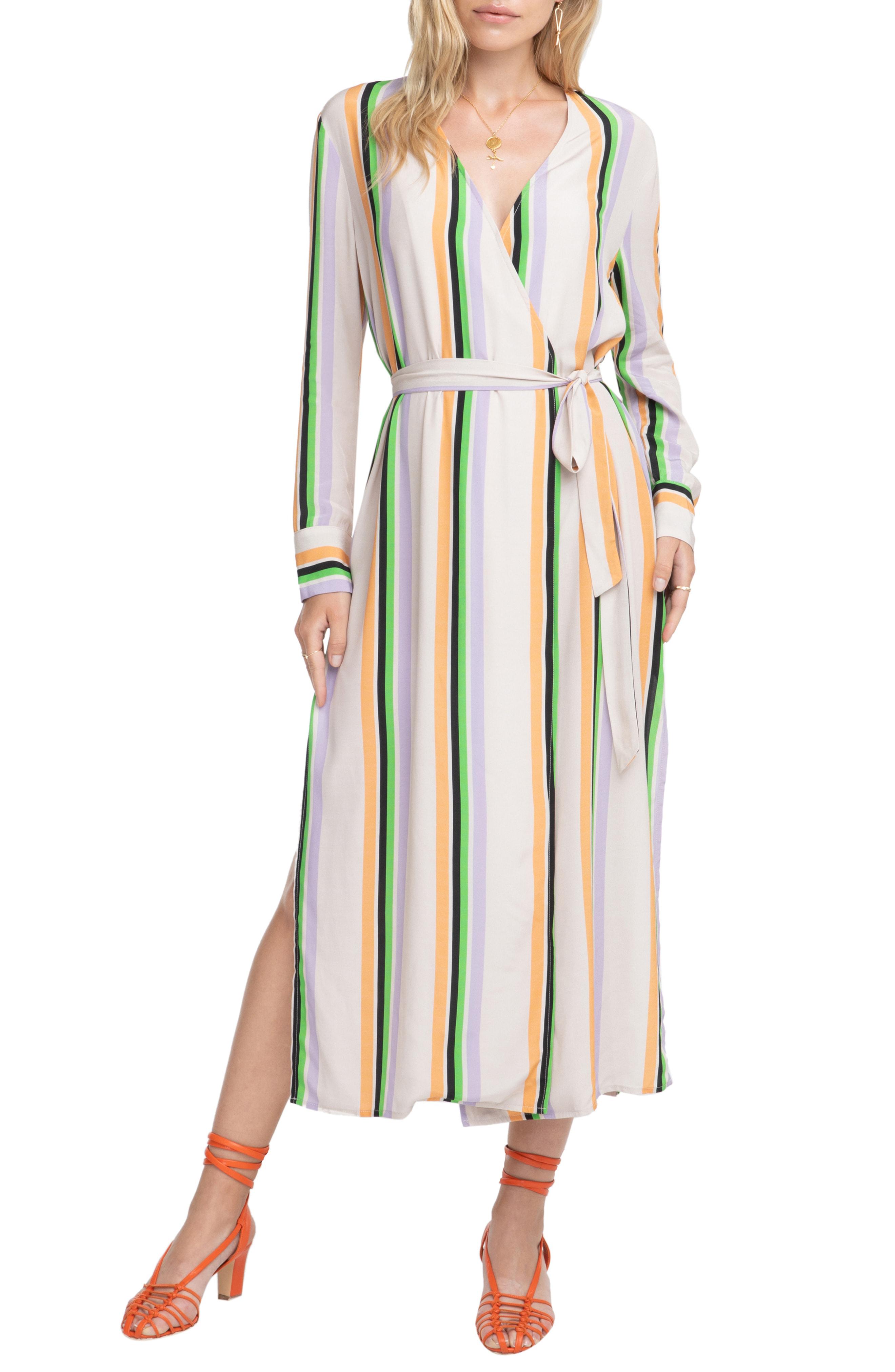 33d628081e Astr Micah Stripe Maxi Dress In Taupe/ Tangerine Stripe | ModeSens