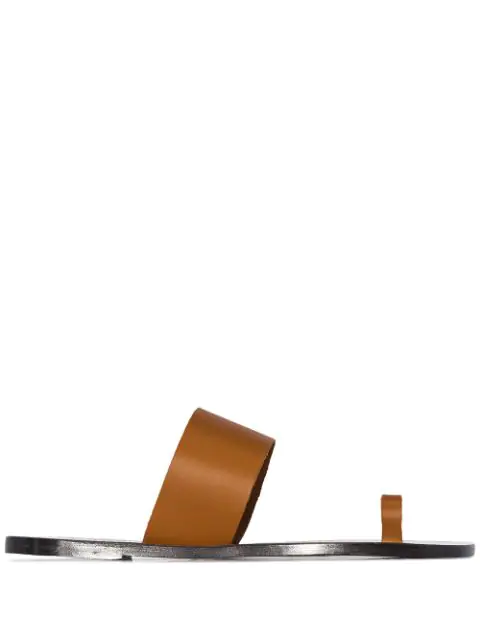Atp Atelier Astrid Flat Sandals In Brown