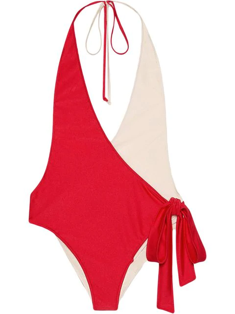 Gucci Stretch Fabric Swimsuit In Red