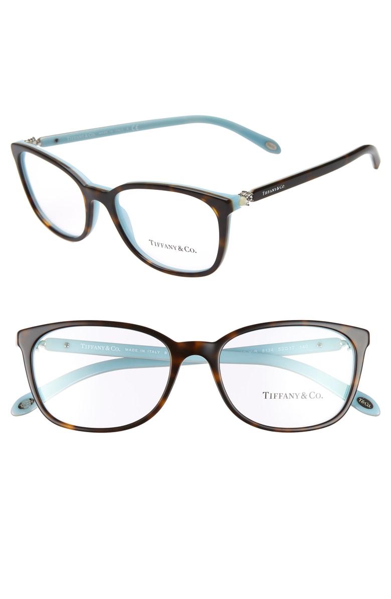 1a36fbd7c2f9 Tiffany & Co 53Mm Optical Glasses - Havana/ Blue   ModeSens