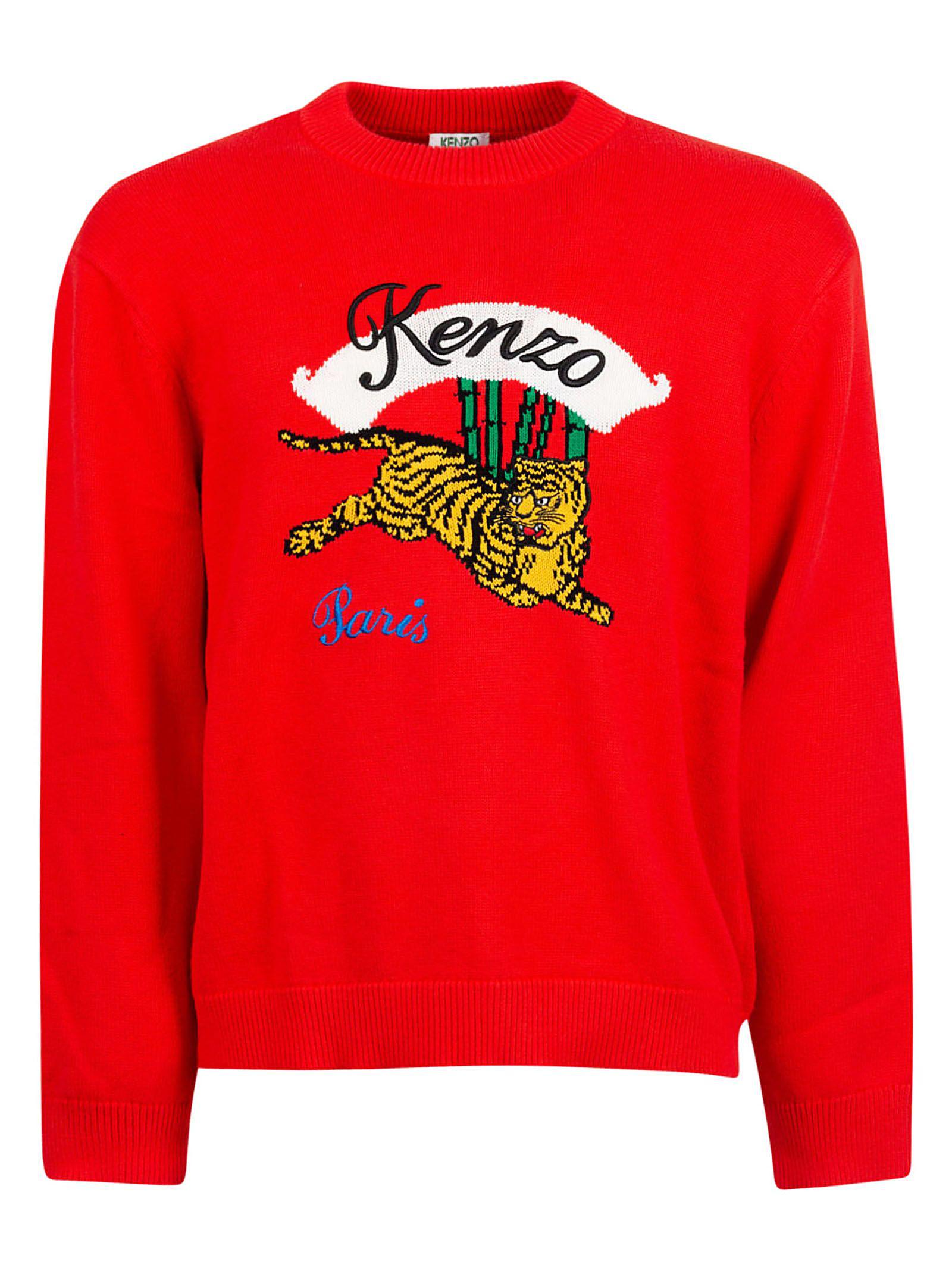 255edc89 Kenzo Embroidered Tiger Sweatshirt In Rouge Moyen | ModeSens