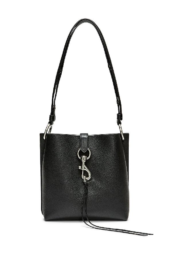 5211ca118 Rebecca Minkoff Small Megan Leather Crossbody Feed Bag - Black ...