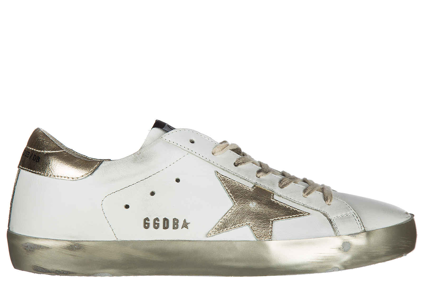 Golden Goose Men's Shoes Leather Trainers Sneakers Superstar In White