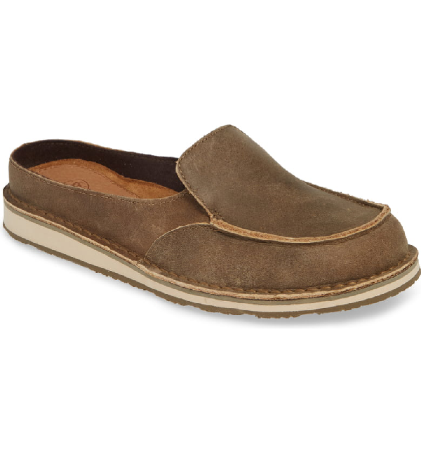 Ariat Cruiser Loafer Mule In Brown Bomber Leather