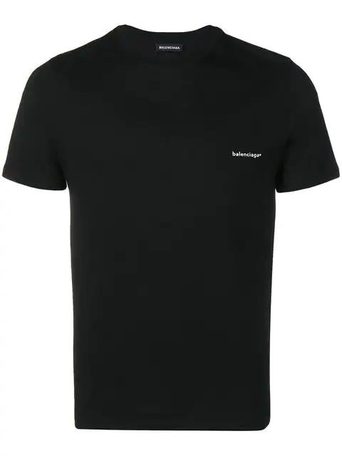 Balenciaga Oversized Logo-Print Cotton T-Shirt In Black