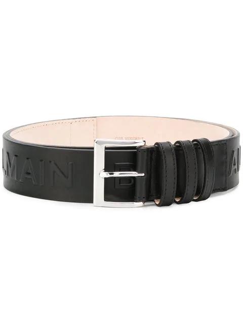 Balmain Ceinture Leather Belt In 0Pa Noir
